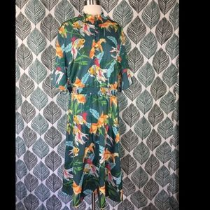 Eloquii Midi Dress Under The Sea Koi Fish